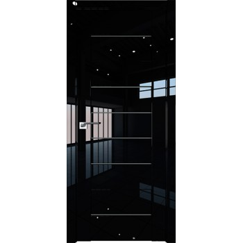 Дверь Профиль дорс 45L Черный люкс - со стеклом