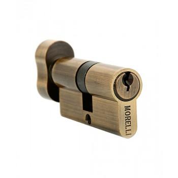 Ключевой цилиндр с поворотной ручкой Morelli 60CK AB Бронза
