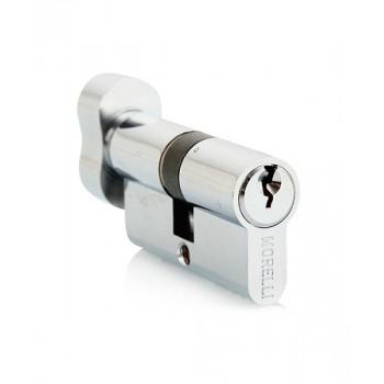 Ключевой цилиндр с поворотной ручкой Morelli 60CK PC Хром