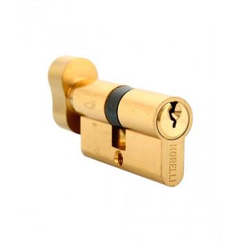Ключевой цилиндр с поворотной ручкой Morelli 60CK PG Золото