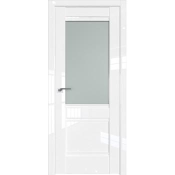 Дверь Профиль дорс 2L Белый люкс - со стеклом