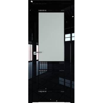 Дверь Профиль дорс 2L Черный люкс - со стеклом