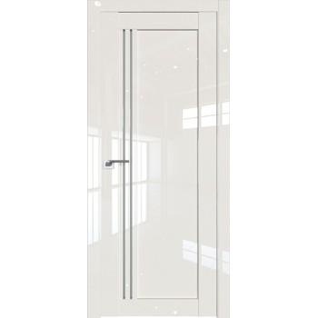 Дверь Профиль дорс 2.50L Магнолия люкс - со стеклом