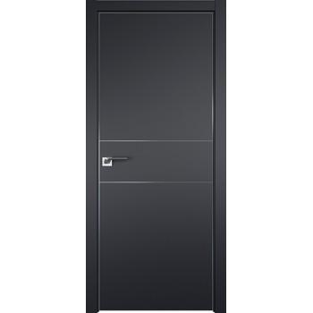 Дверь профиль дорс 41Е Черный матовый - со стеклом