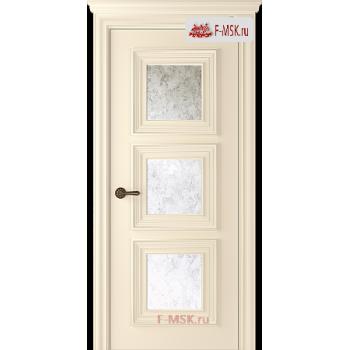 Межкомнатная дверь Палаццо 3 (остекленное), Эмаль слоновая кость, Стекло: Зеркало Mirold Morena, 2000х900 Belwooddoors (Товар № ZF126305)