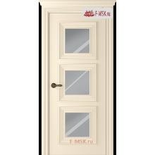 Межкомнатная дверь Палаццо 3 (остекленное), Эмаль слоновая кость, Стекло: Зеркало, 2000х800 Belwooddoors (Товар № ZF126309)
