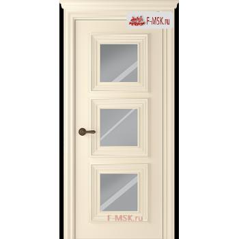 Межкомнатная дверь Палаццо 3 (остекленное), Эмаль слоновая кость, Стекло: Зеркало, 2000х700 Belwooddoors (Товар № ZF126313)