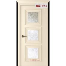 Межкомнатная дверь Палаццо 3 (остекленное), Эмаль слоновая кость, Стекло: Зеркало Mirold Morena, 2000х800 Belwooddoors (Товар № ZF126333)
