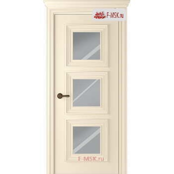 Межкомнатная дверь Палаццо 3 (остекленное), Эмаль слоновая кость, Стекло: Зеркало, 2000х900 Belwooddoors (Товар № ZF126361)