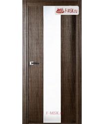 Межкомнатная дверь Юнита (остекленное), Серый дуб, Стекло: Мателюкс белый каленый, 2000х600 Belwooddoors (Товар № ZF49285)
