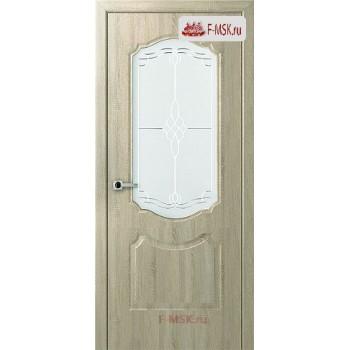 Межкомнатная дверь Перфекта (остекленное), Дуб дорато, Стекло: Мателюкс белый витраж рис. 36, 2000х700 Belwooddoors (Товар № ZF125749)