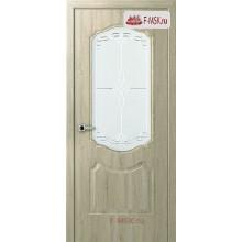 Межкомнатная дверь Перфекта (остекленное), Дуб дорато, Стекло: Мателюкс белый витраж рис. 36, 2000х900 Belwooddoors (Товар № ZF125761)