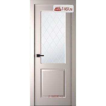 Межкомнатная дверь Альта (остекленная), Эмаль слоновая кость, Стекло: Мателюкс белый витраж рис. 39, 2000х900 Belwooddoors (Товар № ZF125577)