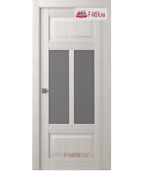Межкомнатная дверь Аризона (остекленное), Ясень рибейра, Стекло: Мателюкс флоат графит, 2000х900 Belwooddoors (Товар № ZF125921)