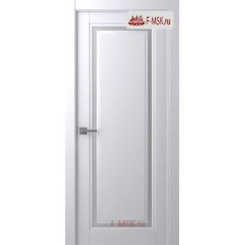 Межкомнатная дверь Аурум 1 (остекленное), Эмаль белый, Стекло: Сатин двусторонний каленый, 2000х700 Belwooddoors (Товар № ZF125981)