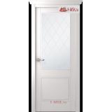 Межкомнатная дверь Селби (остекленное), Эмаль белый, Стекло: Мателюкс белый витраж рис. 39, 2000х600 Belwooddoors (Товар № ZF35894)