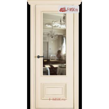 Межкомнатная дверь Палаццо 2 (остекленное), Эмаль слоновая кость, Стекло: Зеркало, 2000х700 Belwooddoors (Товар № ZF59559)