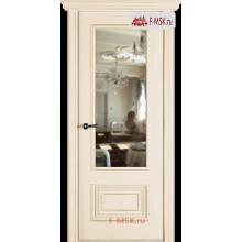 Межкомнатная дверь Палаццо 2 (остекленное), Эмаль слоновая кость, Стекло: Зеркало, 2000х600 Belwooddoors (Товар № ZF59551)