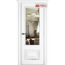 Межкомнатная дверь Палаццо 2 (остекленное), Эмаль белый, Стекло: Зеркало, 2000х800 Belwooddoors (Товар № ZF59611)