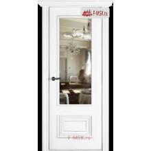 Межкомнатная дверь Палаццо 2 (остекленное), Эмаль белый, Стекло: Зеркало, 2000х600 Belwooddoors (Товар № ZF59635)