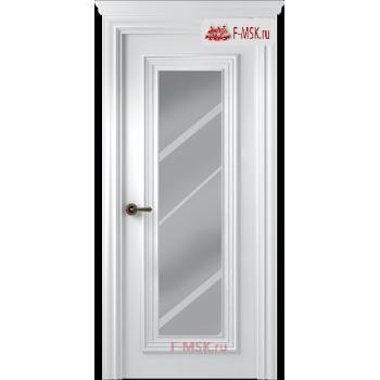 Межкомнатная дверь Палаццо 1 (остекленное), Эмаль белый, Стекло: Зеркало, 2000х600 Belwooddoors (Товар № ZF59407)