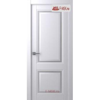 Межкомнатная дверь Аурум 2 (остекленное), Эмаль белый, Стекло: Сатин двусторонний каленый, 2000х600 Belwooddoors (Товар № ZF126029)