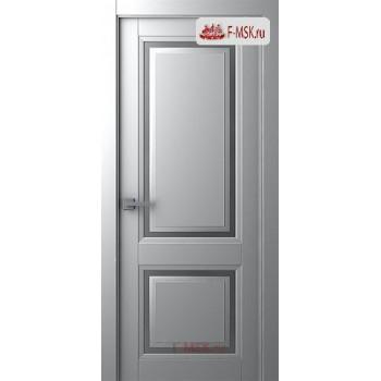 Межкомнатная дверь Аурум 2 (остекленное), Эмаль светло - серый, Стекло: Сатин двусторонний каленый, 2000х600 Belwooddoors (Товар № ZF126033)