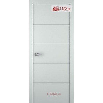 Межкомнатная дверь Арвика (глухое полотно), Эмаль светло - серый 2000х700 Belwooddoors (Товар № ZF59143)