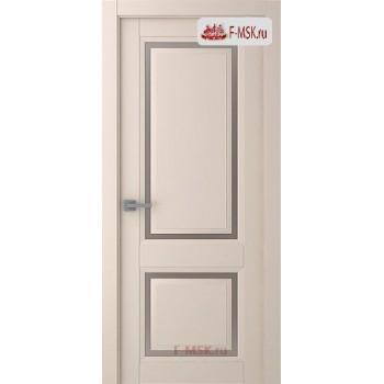 Межкомнатная дверь Аурум 2 (остекленное), Эмаль слоновая кость, Стекло: Сатин двусторонний каленый, 2000х600 Belwooddoors (Товар № ZF126041)