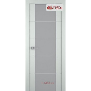 Межкомнатная дверь Арвика 202 (остекленная), Эмаль светло - серый, Стекло: Мателюкс белый кристалайз рис. 42, 2000х800 Belwooddoors (Товар № ZF59316)