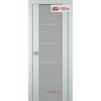 Межкомнатная дверь Арвика 202 (остекленная), Эмаль светло - серый, Стекло: Мателюкс белый кристалайз рис. 42, 2000х600 Belwooddoors (Товар № ZF59332)