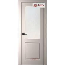 Межкомнатная дверь Альта (остекленная), Эмаль слоновая кость, Стекло: Мателюкс белый кристалайз рис. 34, 2000х600 Belwooddoors (Товар № ZF125593)