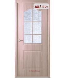 Межкомнатная дверь Капричеза L (остекленное), Клен серебристый, Стекло: Диамант белый, 2000х600 Belwooddoors (Товар № ZF126101)