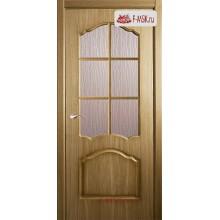 Межкомнатная дверь Каролина L (остекленное), Дуб, Стекло: Кора дуба бронза, 2000х900 Belwooddoors (Товар № ZF126105)