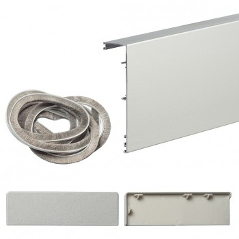 Маскировочная планка для системы Herkules Glass, в цвете Серебро (Товар № ZF41246)