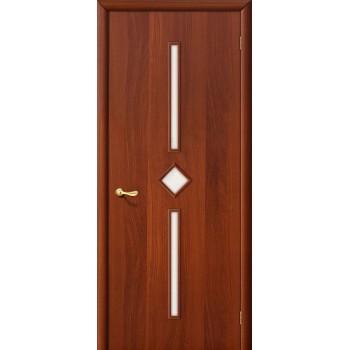 Межкомнатная ламинированная дверь 9С итальянский орех BRAVO Цвет: Итальянский орех Остекленная (Товар №  ZF986)
