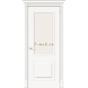 Дверь межкомнатная Вуд Классик-13 - в цвете Whitey Шпон натуральный (Товар № ZF165650)