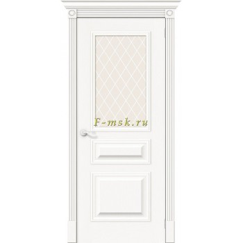Дверь межкомнатная Вуд Классик-15.1 - в цвете Whitey Шпон натуральный (Товар № ZF165653)