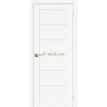 Дверь межкомнатная Вуд Модерн-21 - в цвете Whitey Шпон натуральный (Товар № ZF165658)