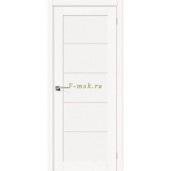 Дверь межкомнатная Вуд Модерн-22 - в цвете Whitey Шпон натуральный (Товар № ZF165659)