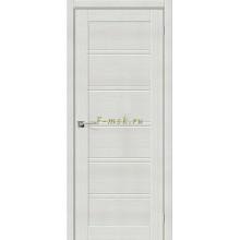 Дверь межкомнатная экошпон Серия Porta X Порта-28 в цвете Bianco Veralinga остекленная (Товар № ZF165673)