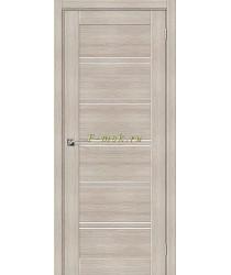 Дверь межкомнатная экошпон Серия Porta X Порта-28 в цвете Cappuccino Veralinga остекленная (Товар № ZF165675)