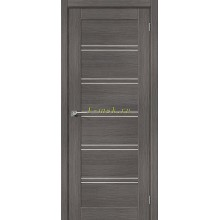 Дверь межкомнатная экошпон Серия Porta X Порта-28 в цвете Grey Veralinga остекленная (Товар № ZF165676)