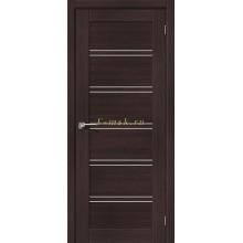 Дверь межкомнатная экошпон Серия Porta X Порта-28 в цвете Wenge Veralinga остекленная (Товар № ZF165674)