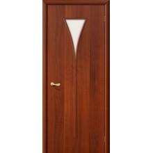 Межкомнатная ламинированная дверь 3С итальянский орех BRAVO Цвет: Итальянский орех Остекленная (Товар №  ZF982)
