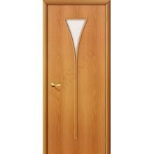 Межкомнатная ламинированная дверь 3С миланский орех BRAVO Цвет: Миланский орех Остекленная (Товар №  ZF983)