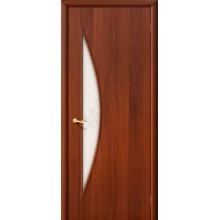 Межкомнатная ламинированная дверь 5С итальянский орех BRAVO Цвет: Итальянский орех Остекленная (Товар №  ZF974)
