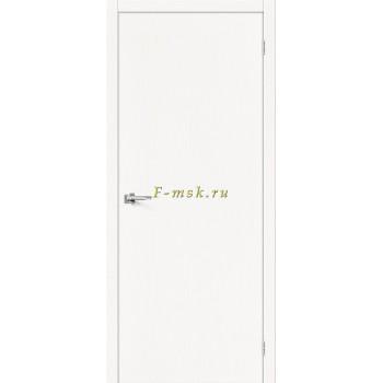 Дверь межкомнатная Вуд Флэт-0V1 - в цвете Whitey V Шпон натуральный (Товар № ZF165654)