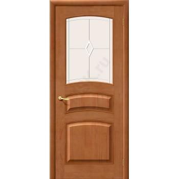 Межкомнатная дверь из Массива М16 ПО Светлый лак Белорусские двери Цвет: Светлый лак Остекленная (Товар №  ZF1213)