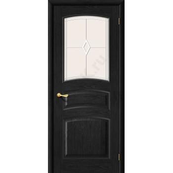 Межкомнатная дверь из Массива М16 ПО венге Белорусские двери Цвет: Венге Остекленная (Товар №  ZF1214)